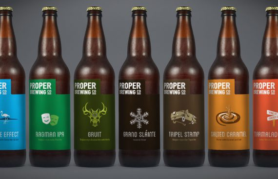 Proper Brewing Co Beer Bottle Labels